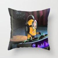 minion Throw Pillows featuring Minion by Duitk