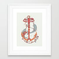 under the sea Framed Art Prints featuring Under The Sea by Huebucket