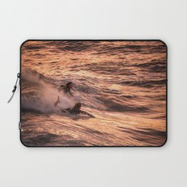 Girls catching a wave together Laptop Sleeve