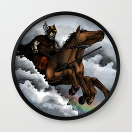Odin and Sleipnir Wall Clock