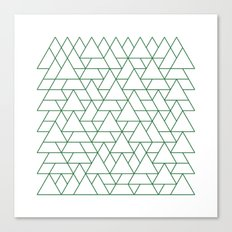 #264 Mountain range – Geometry Daily Canvas Print