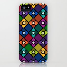 Colorful Floral Pattern iPhone Case