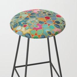 Gilt & Glory - Colorful Moroccan Mosaic Bar Stool