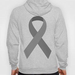 Gray Awareness Support Ribbon Hoody