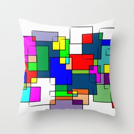 Flashback Colour Throw Pillow