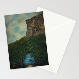 Old Man in the Mountain, Franconia Notch, White Mountains New Hampshire landscape painting Stationery Cards