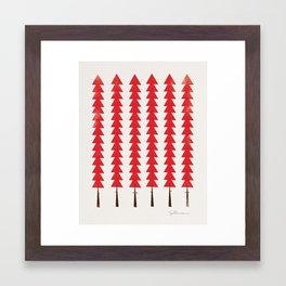 Fancy Trees Framed Art Print
