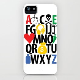 alphabet collection iPhone Case