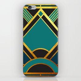 Art Deco New Tomorrow In Turquoise iPhone Skin
