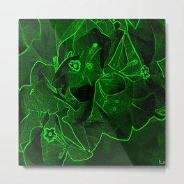 Ali - green Metal Print