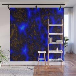 Blue Lightning Abstract Wall Mural