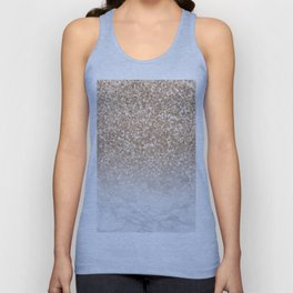 Sparkle - Gold Glitter and Marble Unisex Tank Top