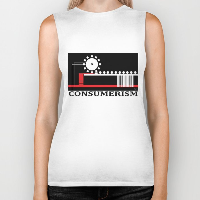 Consumerism Biker Tank