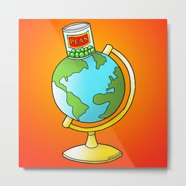 Peas on Earth Metal Print