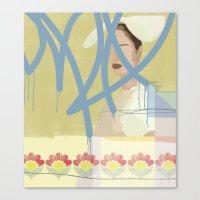 wallpaper Canvas Prints featuring Wallpaper by John Murphy