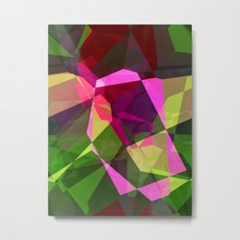 Rosas Moradas 1 Abstract Polygons 2 Metal Print