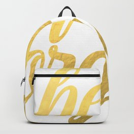 Hello Gorgeous Gold Backpack