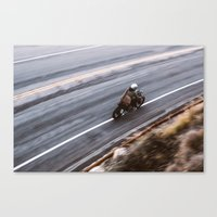 cafe racer Canvas Prints featuring Cafe Racer  by jeff stockwell