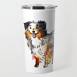 Hans - Dog Watercolour Travel Mug