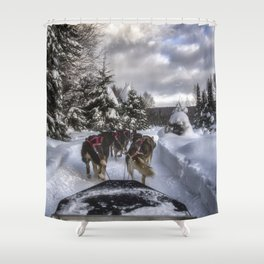 Running With the Dogs Shower Curtain