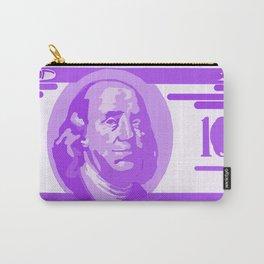 BIG PURPLE 100 DOLLAR BILL BEN FRANKLIN $$$ Carry-All Pouch