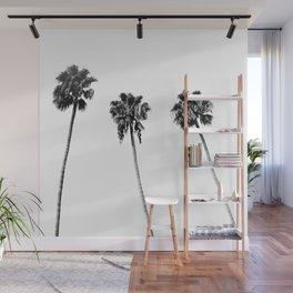 Black + White Palm Trees Wall Mural