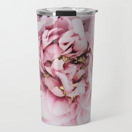 Pink Blush Peonies Travel Mug