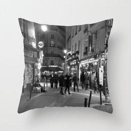 Latin Quarter, Paris Throw Pillow