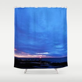 Cloudy Day Sunset on the Sea Shower Curtain