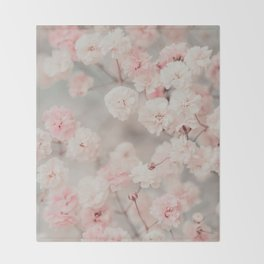 Gypsophila pink blush Throw Blanket