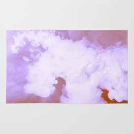 DREAMY PINK AND WHITE RAINBOW CLOUDS Rug