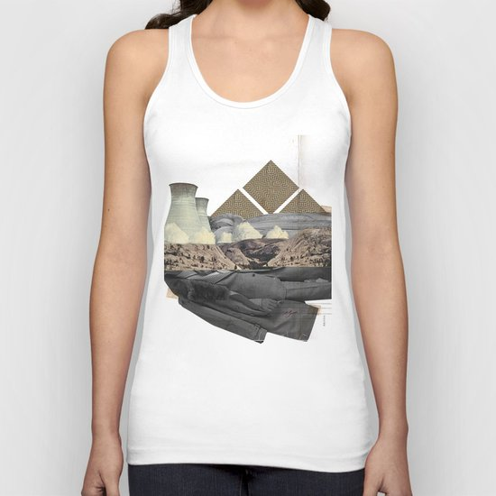 The future a time to reminisce. (mixed media) Unisex Tank Top