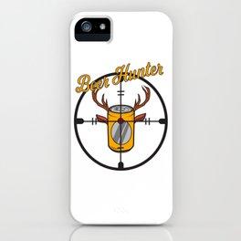 Beer can hunter crosshair drink alcohol deer antler humor joke gift iPhone Case
