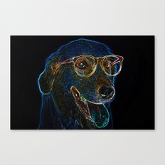 Geek Dog Canvas Print
