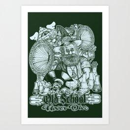 Old School Never Dies Art Print