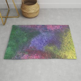 Abstract painting of sponged colorful spots Rug