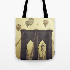 Balloons Over the Bridge Tote Bag