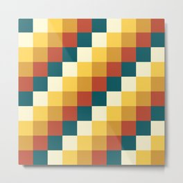 My Honey Pot - Pixel Pattern in yellow tint colors Metal Print