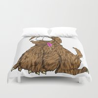 fat Duvet Covers featuring Fat Dog by Frances Roughton