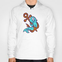 anchors Hoodies featuring Anchors Aweigh by Artistic Dyslexia