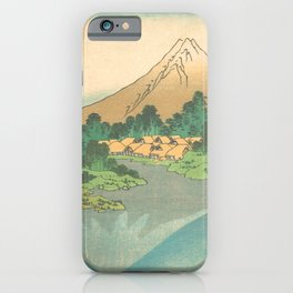 Reflection in Lake at Misaka in Kai Province, Thirty-six Views of Mount Fuji by Katsushika Hokusai iPhone Case