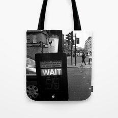 Pedestrians Wait Tote Bag