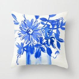 blue stillife N.o 2 Throw Pillow