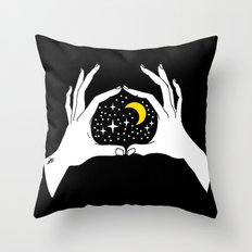 I heart the moon Throw Pillow
