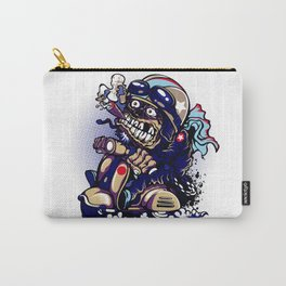 Smoke Skull Driver Moped - Navy Carry-All Pouch