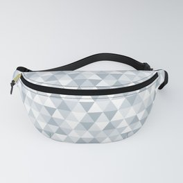 shades of ice gray triangles pattern Fanny Pack