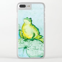 Frogs Clear iPhone Case