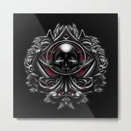 Vampire skull ornament Metal Print