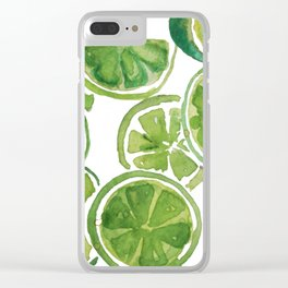Juicy Limes Clear iPhone Case