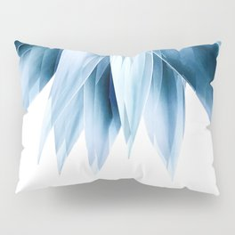 Agave geo fringe - blue Pillow Sham